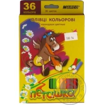 Олівці шестигранні Пегашка Marco 36 кольорів - купить, цены на Novus - фото 1