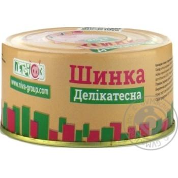 Консерва мясная Пятачок Ветчина Деликатесная 325г - купить, цены на Novus - фото 2