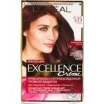 Hair dye creamL`Oreal Paris Excell Crem 5.15 Fros chest