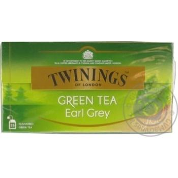 Чай зелений дрiбний зi смаком бергамота Twinings og London 25 пак - купити, ціни на Novus - фото 1