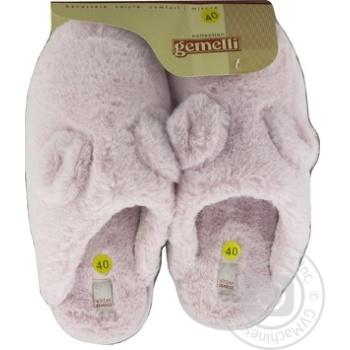 Взуття домашнє Gemelli жіноче 36-40 розмір колір в асортименті - купити, ціни на Novus - фото 2