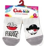 Шкарпетки дитячі Conte Kids веселі ніжки 17С-10СП, розмір 12, 335 світло-сірий - купити, ціни на Novus - фото 1