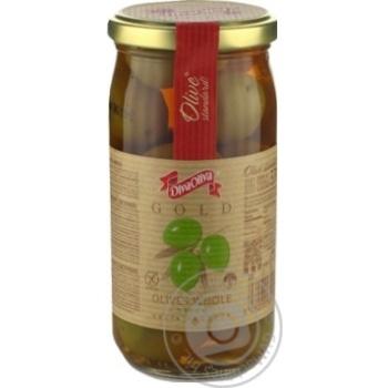 Оливки DivaOliva зеленые с косточкой 370мл