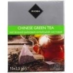 Чай Rioba зеленый байховый китайский листовой в пакетиках-пирамидках 15*2,5г
