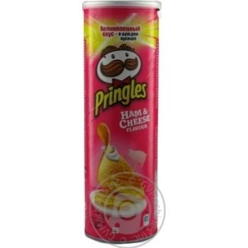 Скидка на Чипсы Pringles Ветчина и сыр 165г