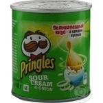 Чіпси Pringles Сметана та цибуля 40г