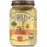 Puree Rudolfs vegetable salmon for children from 6 months 190g glass jar