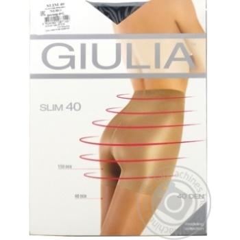Колготки Giulia Slim жіночі nero 40ден 4р - купити, ціни на МегаМаркет - фото 1