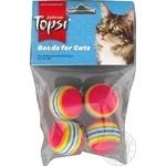 Игрушка для животных Topsi Мячи с радугой 4шт.