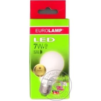 Лампа светодиодная Eurolamp LED E27 7W 3000K