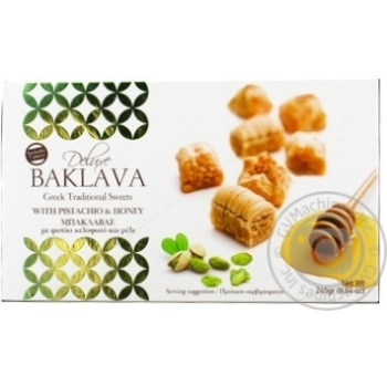 Deluxe With Pistachio And Honey Baklavas 245g - buy, prices for Novus - image 1
