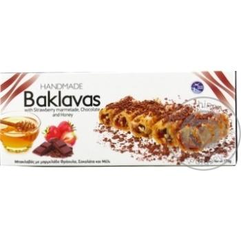 Пахлава з шоколадом та полуницею Deluxe 175г - купить, цены на Novus - фото 1