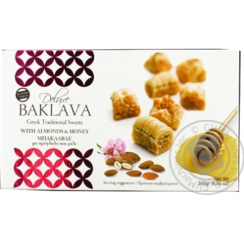 Baklava with almonds 245g - buy, prices for Novus - image 1