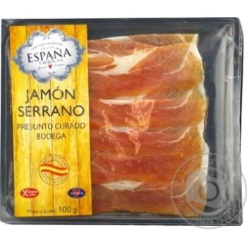 Хамон Espana Серрано Бодега сыровяленая нарезка 100г - купить, цены на Novus - фото 1