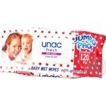 Серветки вологі дитячі з вітаміном Е Unac 120шт