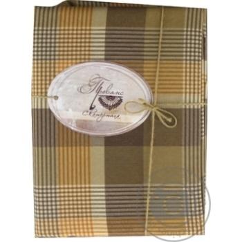 Скатертина Toffee коричнева клітинка 220х136 Прованс - купити, ціни на МегаМаркет - фото 1