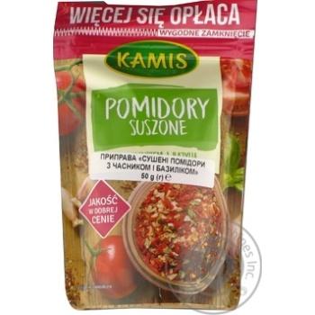Приправа сушені помідори з часником і базиліком Kamis 50г