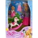 Набір з лялькою Ася Прогулянка верхи, 28см, блондинка, і маленька лялька 11см