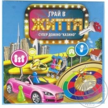 Гра настільна Супер доміно казино Гра в життя Arial - купить, цены на Novus - фото 1