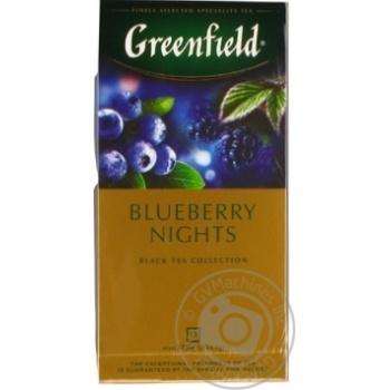 Чай черный Greenfield Blueberry Nights 25шт*1,5г 37,5г - купить, цены на Метро - фото 5