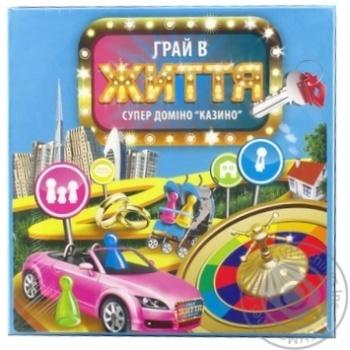 Гра настільна Супер доміно казино Гра в життя Arial - купить, цены на Novus - фото 2