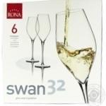 Rona Swan Set of Champagne Glasses 6pcs 320ml