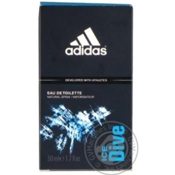 Вода туалетна Adidas Ice Dive Sport Sensations 50мл - купить, цены на Novus - фото 1