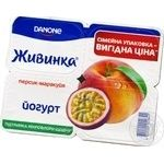 Yogurt Zhivinka peach-passion-fruit 1.5% 115x4