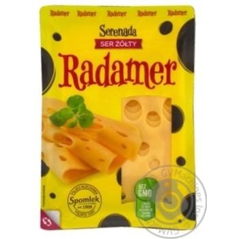 Сыр Spomlek Радамер твердый нарезанный 45% 150г - купить, цены на Novus - фото 1