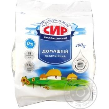 Творог Белоцерковский Домашний 0% пакет 400г