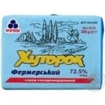 Спред сладкосливочный Рудь Хуторок Фермерский 72,5% 200г