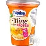 Крем-йогурт Exquisa Fitline протеїновий персик-маракуйя 10% 400г