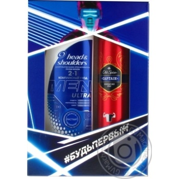 Gift set Head & Shoulders Shampoo Total Care 2in1 360ml, Old Spice Captain Deodorant Spray 150ml - buy, prices for Novus - image 1