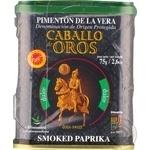 Паприка копчена солодка Caballo de oros з/б 75г