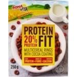 Кільця білкові з какао Bona vita 250г к/у