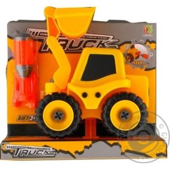 Набір трактор з екскаваторною установкою Kaile Toys розбірна модель з викруткою - купить, цены на Novus - фото 1