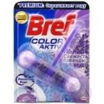 Туалетная блок Bref Color Aktiv Сила лиловый воды Лаванда 50г - купить, цены на Novus - фото 1