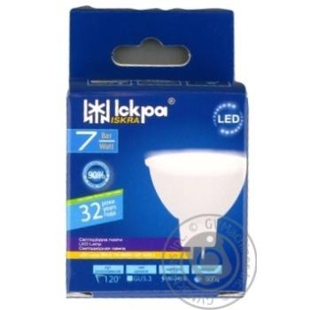 Лампа LED Іскра MR16 220В 7Вт GU5.3 4000К - купить, цены на Novus - фото 1