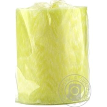 Свеча Candlesbio желтая 5,5х7см