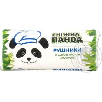 Полотенца бумажные Сніжна Панда двухслойные 140шт - купить, цены на Novus - фото 1