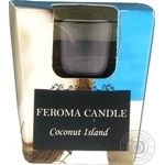 Свічка Feroma Candle Кокос арома стопка