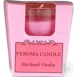 Свічка арома стопка пачулі,фуксія Feroma Candle