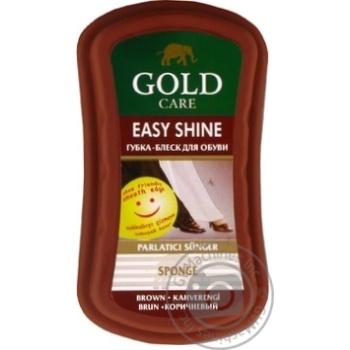 Губка Gold Care коричневая для придания блеска обуви