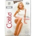 Tights Conte Ideal beige for women 20den 3size Belarus