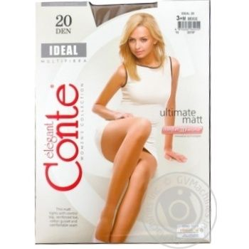 Колготки жіночі Ideal Conte elegant 20den, розмір 3, beige