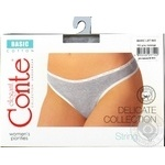 Conte Elegant Basic Grey Melange Women's Panties 102/XL