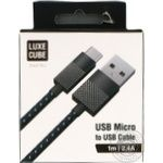 Luxe Cube Zinc USB-MicroUSB Cable 1m