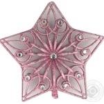 Украшение DLT Collection Верхушка розовая 27x22см E09048P