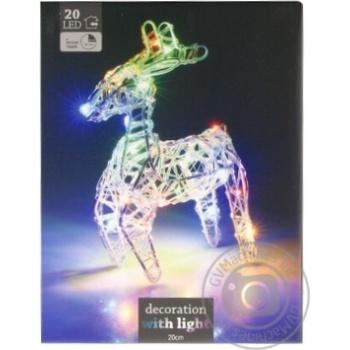 Фігура Koopman Північний Олень різнокольорова світлодіодна