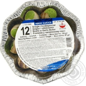 Snails in garlic butter Nordic Seafood 12units х 67g - buy, prices for Novus - image 3